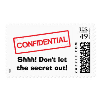 Confidencial Shhh no deje el franqueo del secreto Estampilla