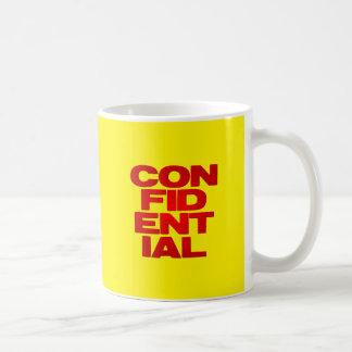 confidencial taza clásica