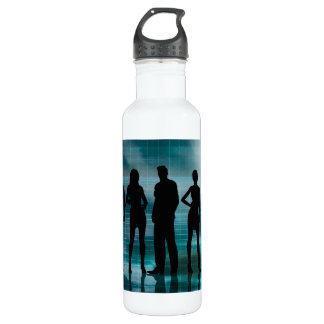 Confident Business Team of Professionals in Suits Stainless Steel Water Bottle
