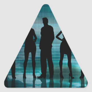 Confident Business Team of Professionals in Suits Triangle Sticker