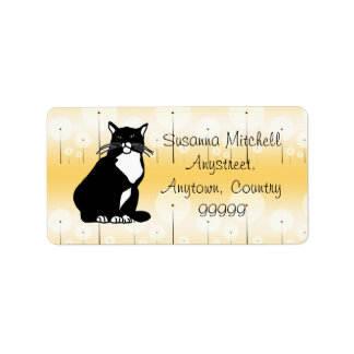 Confident Cat Label