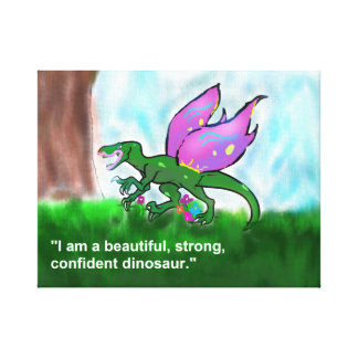 Confident Dinosaur Canvas Print