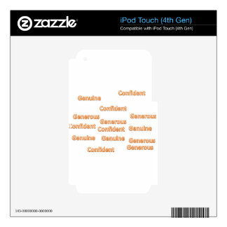 confident generous genuine skin for iPod touch 4G