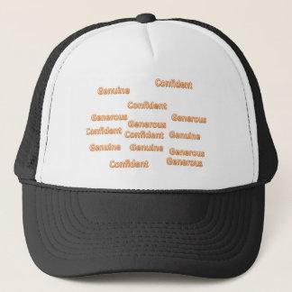 confident generous genuine trucker hat