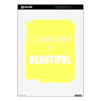 Confident Is Beautiful Confidence Believe Skins For iPad 2