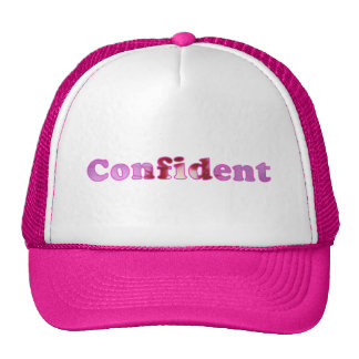 Confident spelled with pink flowers Hats