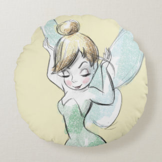 Confident Tinker Bell Round Pillow