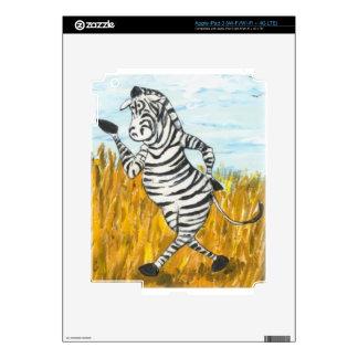 Confident Zebra iPad 3 Decals