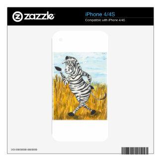 Confident Zebra iPhone 4S Decal