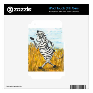 Confident Zebra iPod Touch 4G Decal