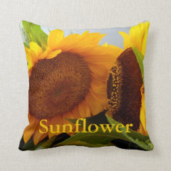 Confidental Sunflowers Throw Pillows
