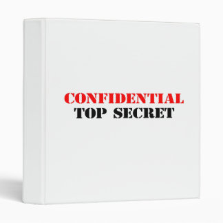 Confidential 3 Ring Binders
