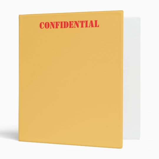 CONFIDENTIAL BINDER