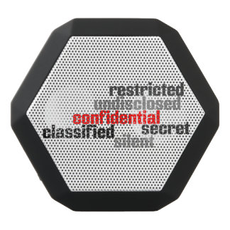 Confidential Black Bluetooth Speaker