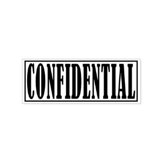 Confidential Business Office Framed Simple Word Rubber Stamp