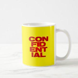confidential classic white coffee mug
