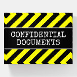 """[ Thumbnail: """"Confidential Documents"""" + Warning Stripes ]"""