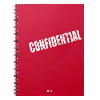 Confidential File Spiral Notebooks