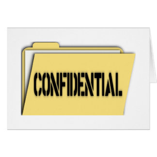 Confidential Folder With Paper Greeting Card