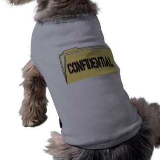 Confidential Folder With Paper Dog T-shirt