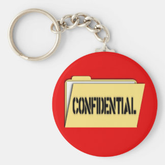 Confidential Folder With Paper Keychains