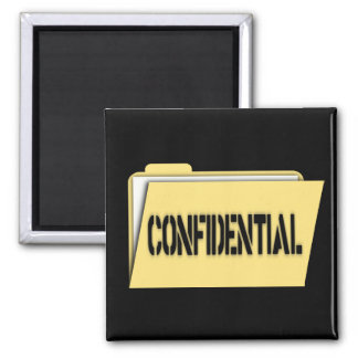 Confidential Folder With Paper Fridge Magnets