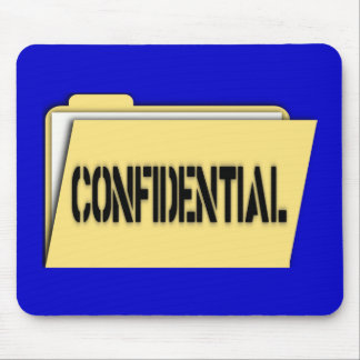 Confidential Folder With Paper Mouse Pad