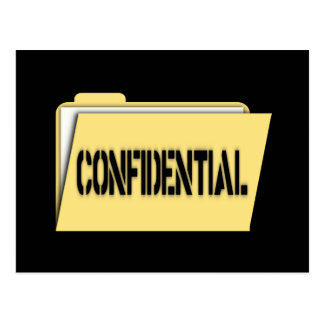 Confidential Folder With Paper Postcard