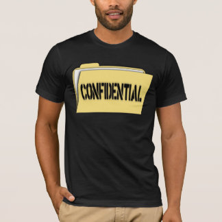 Confidential Folder With Paper T-Shirt