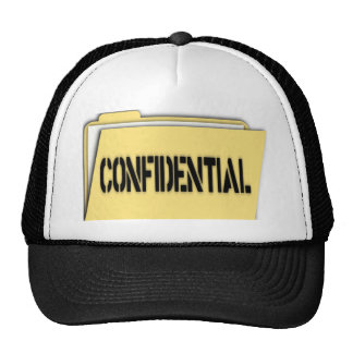 Confidential Folder With Paper Trucker Hats