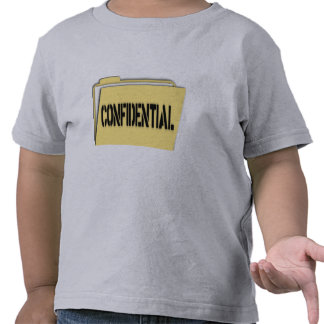 Confidential Folder With Paper Shirt