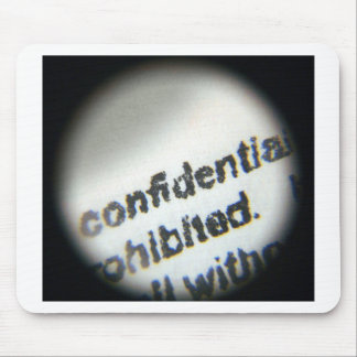 Confidential Prohibited Mouse Pad