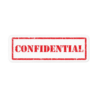 Confidential red grunge label