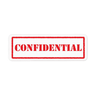 Confidential red stamp label