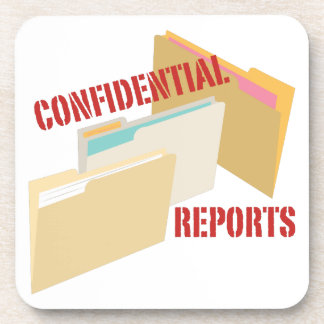 Confidential Reports Drink Coaster