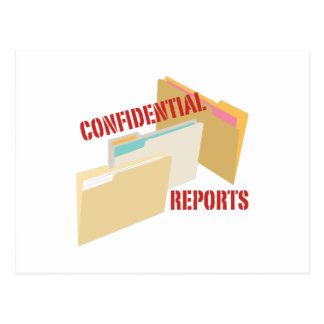 Confidential Reports Postcard