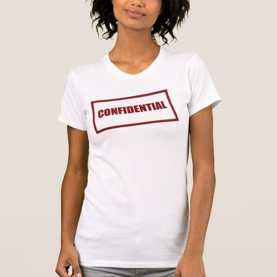 Confidential Rubber Stamp Shirt