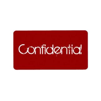 Confidential - Secret Address Label