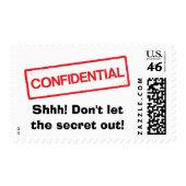 Shhh, don't let the secret out surprise party postage stamps