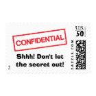 Confidential Shhh Dont let the secret out postage