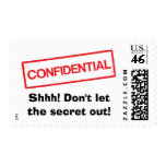 Confidential Shhh Dont let the secret out postage