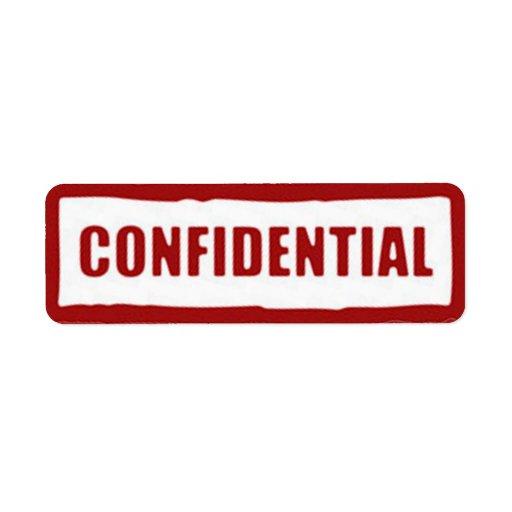 Confidential Stickers Custom Return Address Label