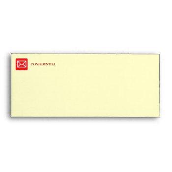 Confidential Top Secret Warning Envelope by DigitalDreambuilder at Zazzle