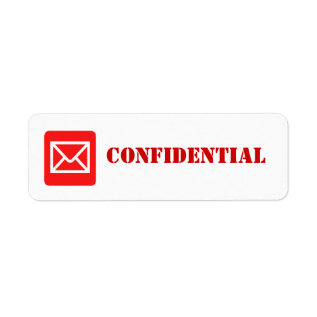 Confidential Top Secret Warning Label at Zazzle