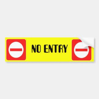 Confidential Top Secret Warning No Entry Sticker Bumper Sticker
