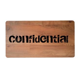 Confidential Top Secret Wood Floor Avery Label