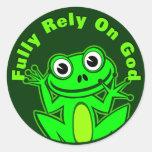 Confíe completamente en el pegatina del Froggy de
