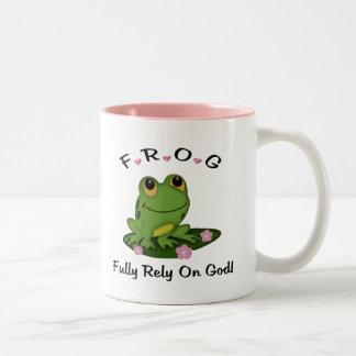 Confíe completamente en la taza de dios