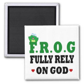 Confíe completamente en rana de dios imán para frigorifico