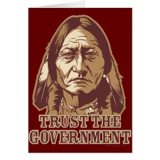 Confíe en al gobierno tarjeta de felicitación